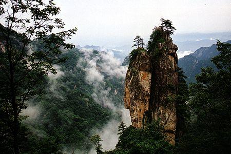 河南尧山风景区秋季