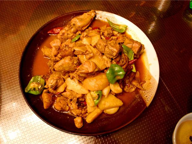 新疆美食-大盘鸡